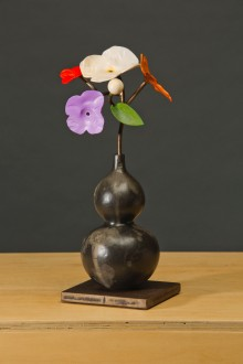 "Spring Bouquet in Han Vase bronze, steel, paint 16½"" x 7"" x 7"""