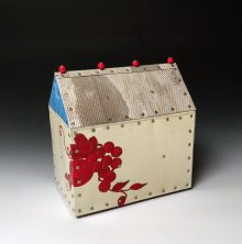 "Red Grapes #2 Wood and metal 8.5""h x 8"" x 5"" 2017"