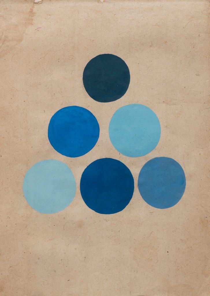 Six Blue Balls