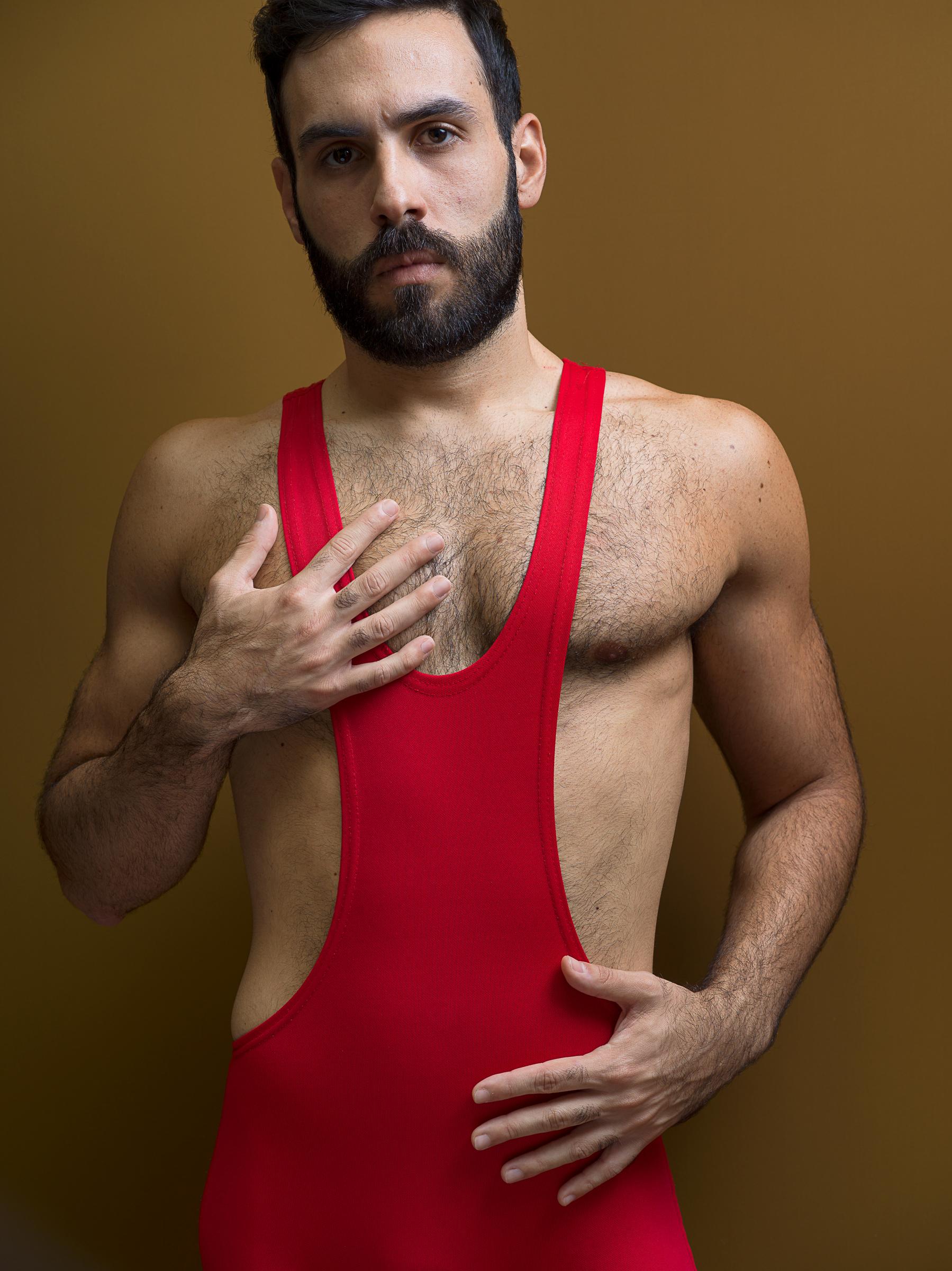 ntimate Strangers, Gabriele Red Wrestling Singlet