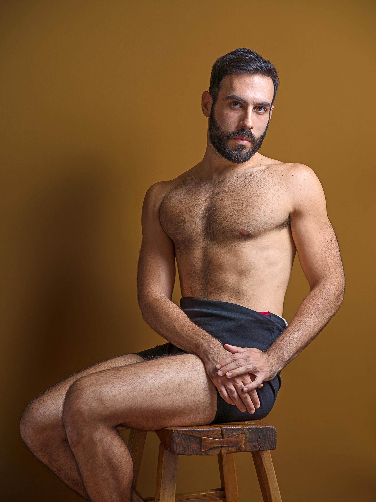 Intimate Strangers,Gabriele Sitting on Wooden Stool