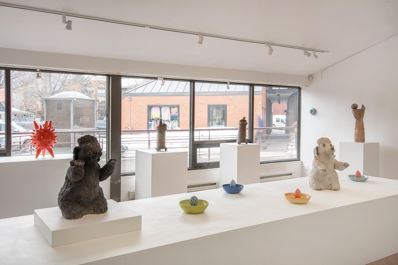 Installation view (Eva Kwong & Kirk Mangus)
