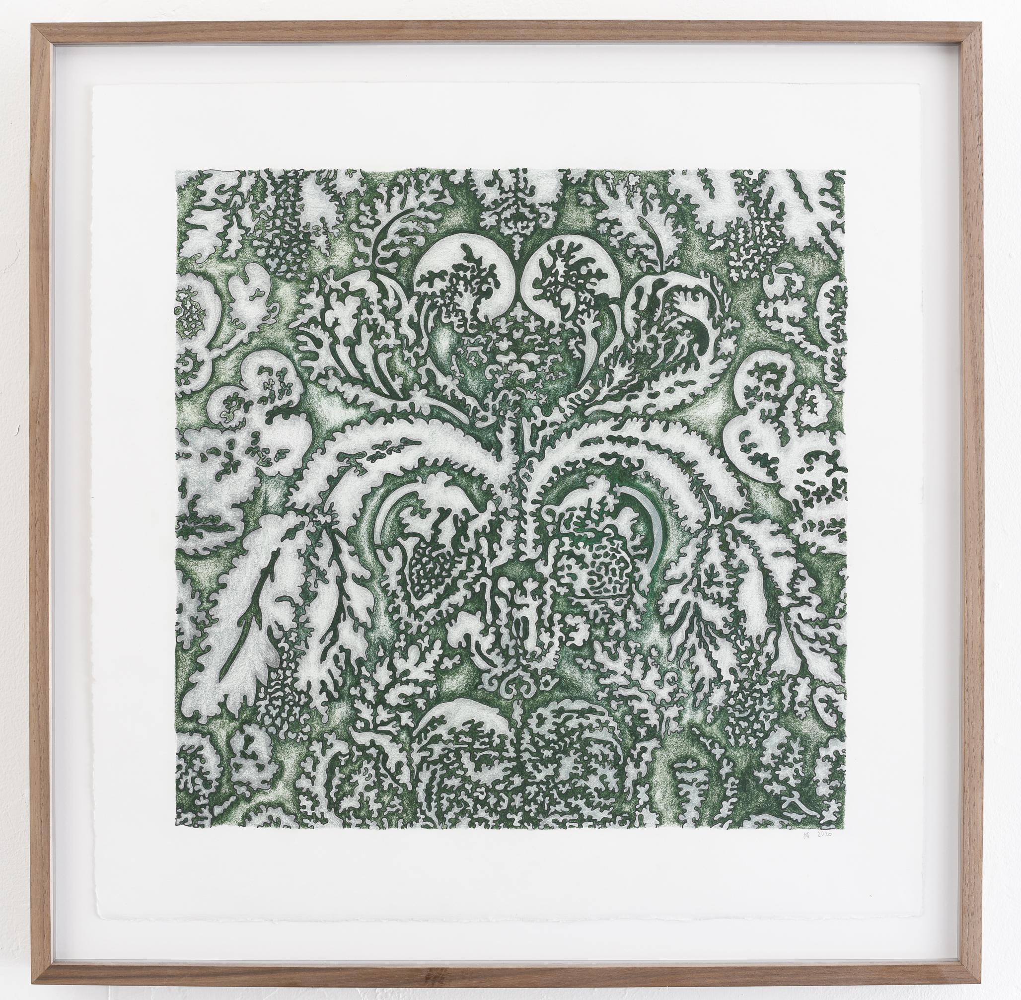 Jeanne Quinn, Jaquard Drawing (green), 2020