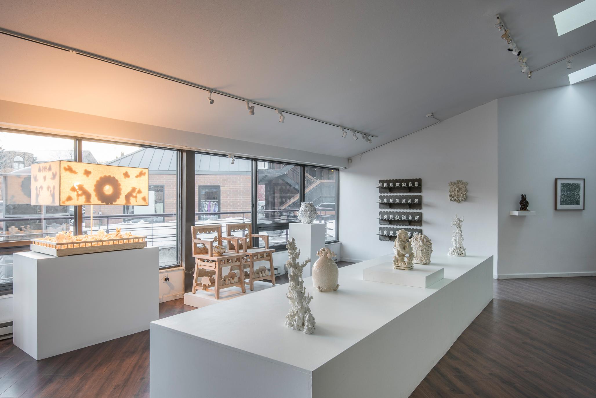 Installation view (Jeanne Quinn, Jeffry Mitchell)