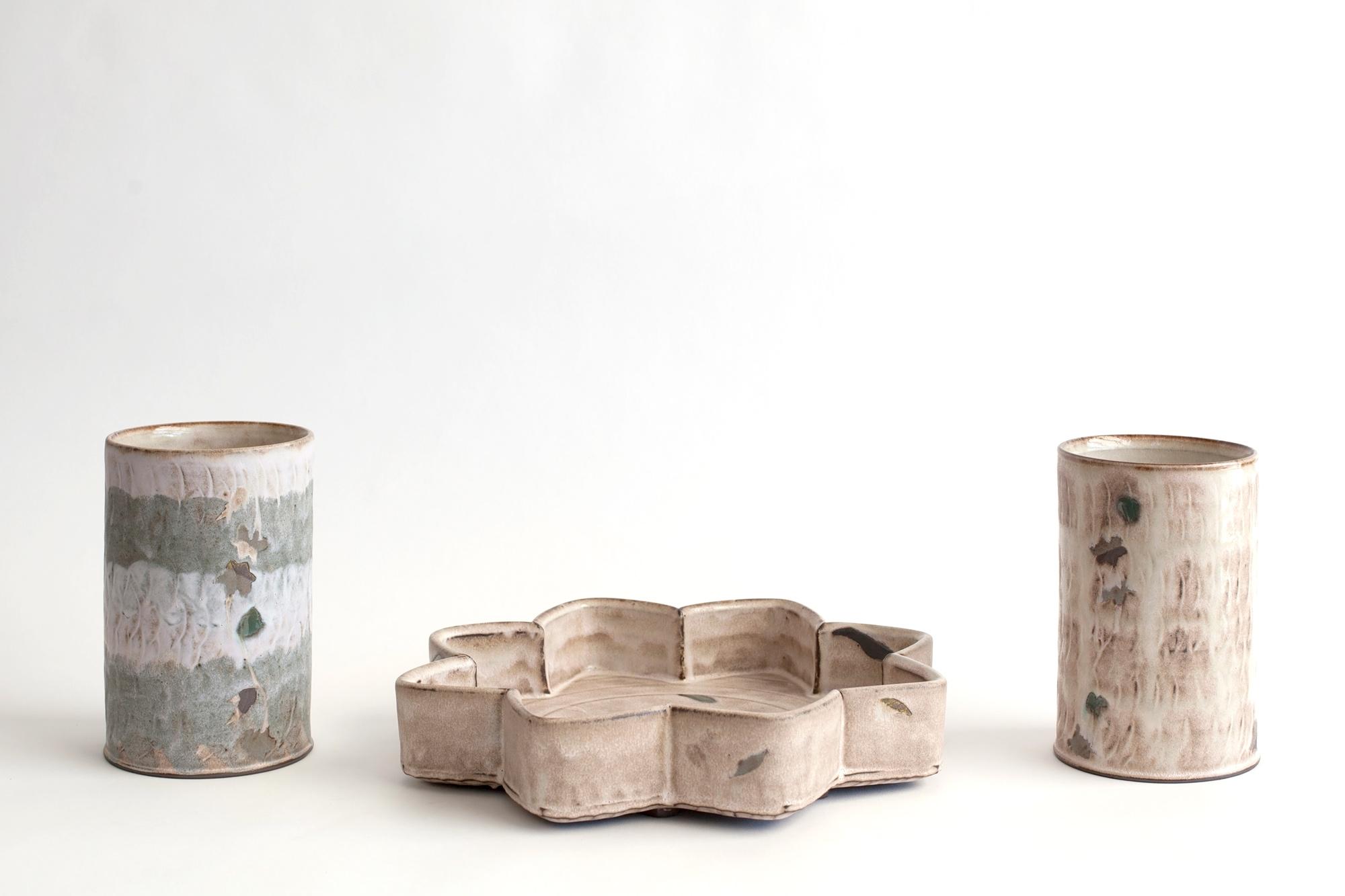 Sanam Emami, Centerpiece with Two Vases, 2021, 2021