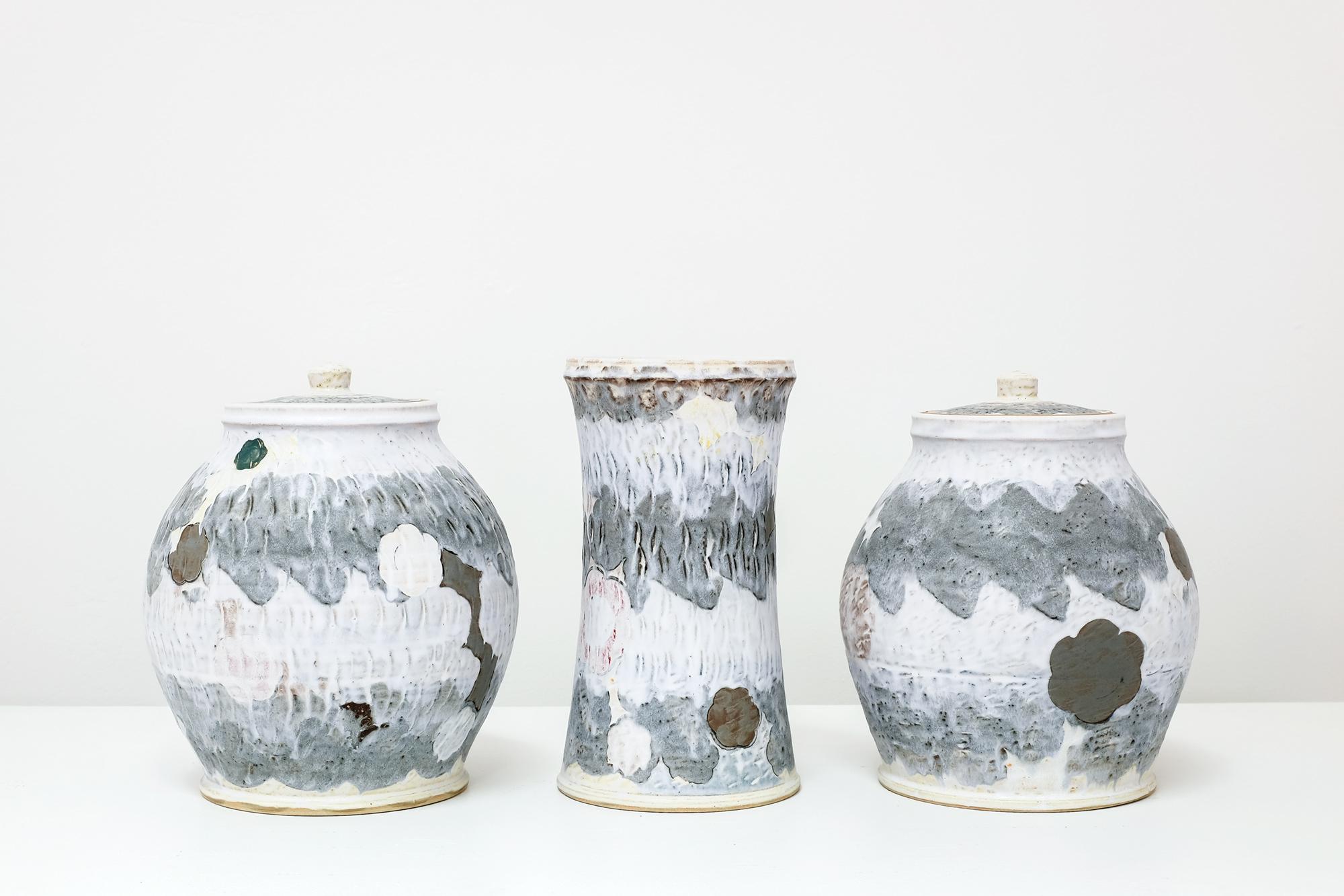 Sanam Emami, Garniture of Three Vases, 2021